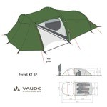 Vaude Ferret XT 3 12305 [4 Seasons] Tents - Green