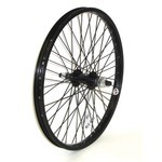 REAR WHEEL BMX 20x1.75 48T, Black, 14mm axle